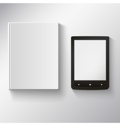 e-book and old book on a white background vector image