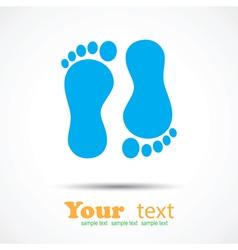 Foot imprint background vector