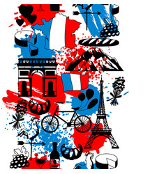 france seamless pattern vector image