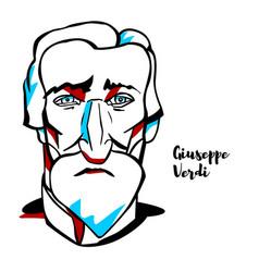 Giuseppe verdi portrait vector
