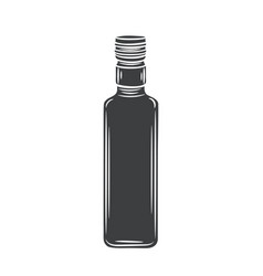 Glass bottle olive oil glyph icon vector