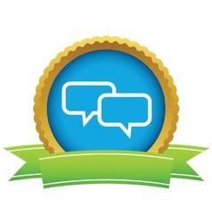 Gold conversation logo vector