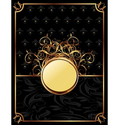 gold invitation frame or packing for elegant desig vector image