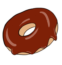 Hand drawn chocolate donuts isolated vector