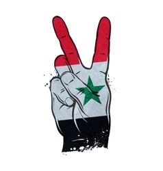hand gesture of victory flag Syria vector image