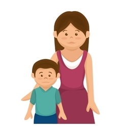 Happy family member character vector
