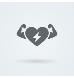 Heart Icon Single Object Symbol for vector image