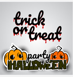 Helloween evil pumpkin voodoo doll pop art vector