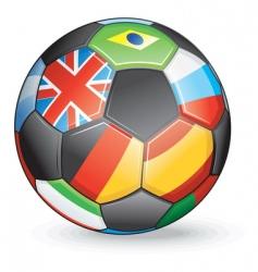 international soccer vector image