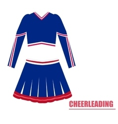 Isolated cheerleading uniform vector