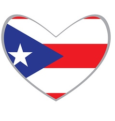 Isolated flag of Puerto Rico vector image