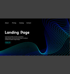 Landing page template dark blue abstract vector
