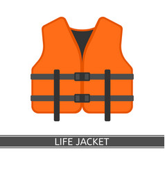 life jacket isolated vector image