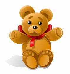 Little bear toy gift vector