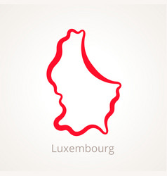 luxembourg - outline map vector image