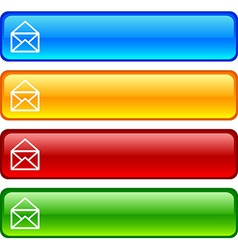Mail buttons vector image