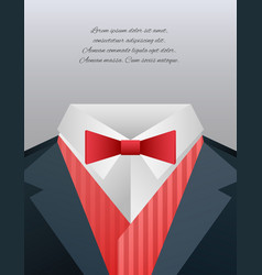 men39s suits and place for text for your d vector image