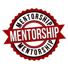 Mentorship label or sticker vector
