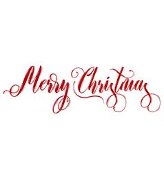 Merry christmas lettering on white background vector