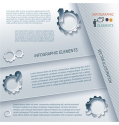 Modern infographic template design vector image