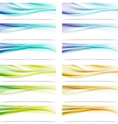 Modern satin swoosh smooth futuristic abstract vector