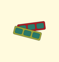 Movie tickets in flat style vector
