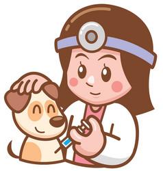 Pet doctor vector