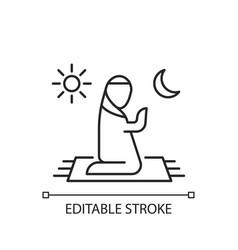 Prayer linear icon vector
