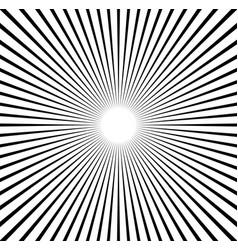 Radial lines starburst sunburst pattern black and vector