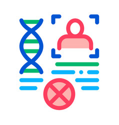 rebuttal paternity file icon outline vector image