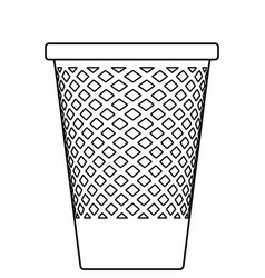 Recycle bin contour vector