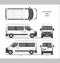 Renault master passenger van l2h2 2020 vector