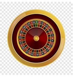 Roulette casino mockup realistic style vector