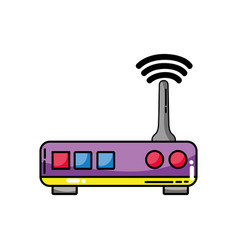 Router digital wifi technology network vector