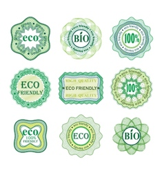 Set of labels for green technology and production vector image vector image