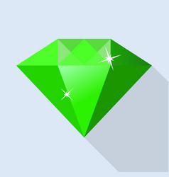 side of emerald icon flat style vector image