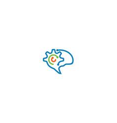 smart brain logo icon technology vector image