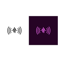 sound wave voice sound assistant vector image