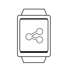 Square watch and share icon graphic vector