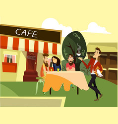 street cafe concept vector image