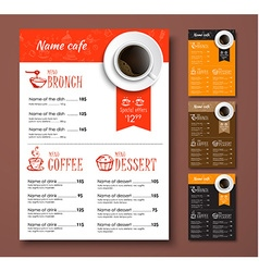 templates different colors coffee menu vector image