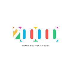 Two hundred thousand subscribers baner colorful vector