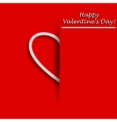 Valentines Day Greeting card with half of heart in vector image