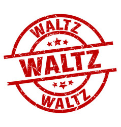 Waltz round red grunge stamp vector