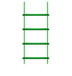Wooden rope ladder in green design vector