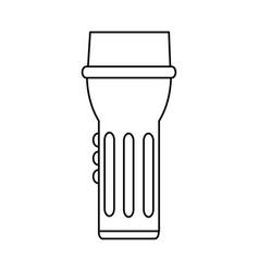 flashlight camping icon image vector image