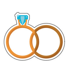 gold rings luxury wedding vector image