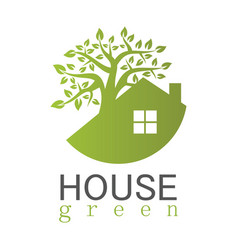 house green logo vector image
