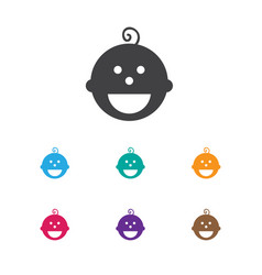 of child symbol on son icon vector image vector image