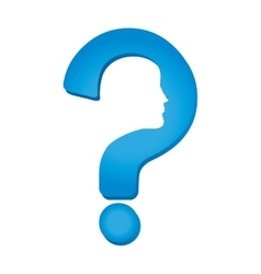 symbol question help silhouette profile vector image